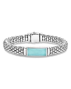 Lagos Sterling Silver Maya Escape Turquoise Doublet Bracelet