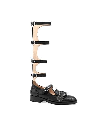 Gucci Queercore Gladiator Flats