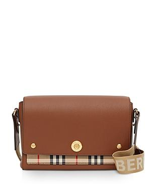 Burberry Leather & Vintage Check Note Crossbody