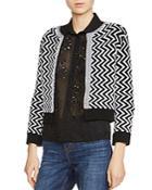 Maje Miami Zigzag-pattern Cardigan