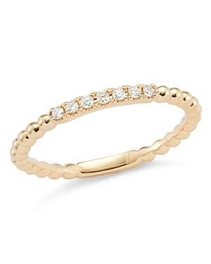 Dana Rebecca Designs 14k Rose Gold Poppy Rae Band Ring With Diamonds