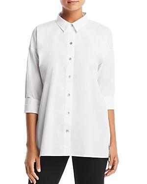 Eileen Fisher Petites Classic Button-down Top