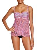 Profile By Gottex Rio D-cup Flyaway Tankini Top