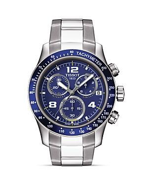 Tissot V8 Men's Blue Chronograph Sport Watch, 42.5mm