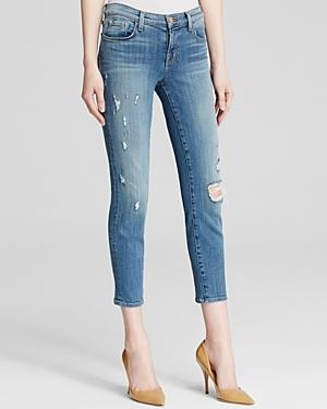 J Brand Jeans - Mid Rise Cropped Skinny In Pulse