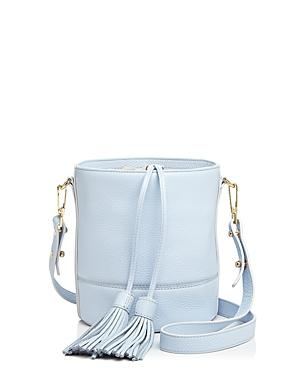 Milly Astor Drawstring Leather Bucket Bag