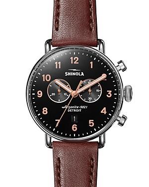 Shinola The Canfield Black Chronograph, 43mm