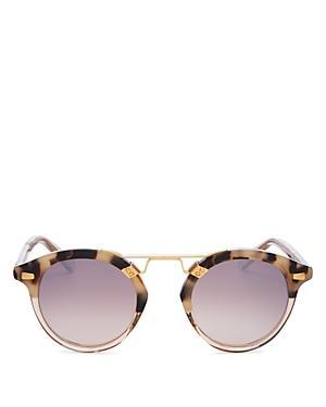Krewe Unisex Stl Ii 24k Round Sunglasses, 48mm