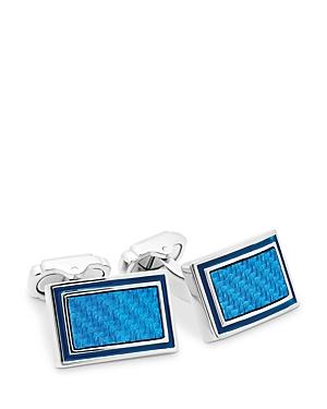 Thompson Of London Alutex Blue Cufflinks