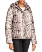 Aqua Snake Print Puffer Jacket - 100% Exclusive