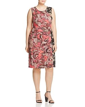 Nic+zoe Plus Etched Floral Dress