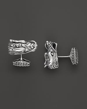 John Hardy Men's Naga Silver Dragon Head Cufflinks