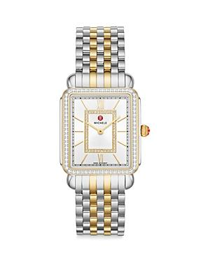 Michele Deco Ii Two-tone 18k Yellow Gold Diamond Watch, 29mm (41% Off) Comparable Value $2,695
