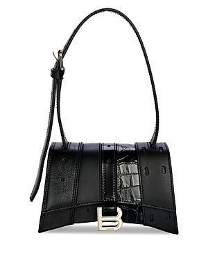 Balenciaga Mixed Media Mini Leather Shoulder Bag