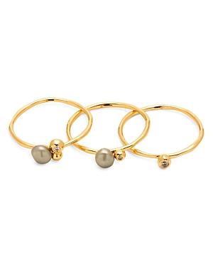 Gorjana Vienna Cultured Freshwater Pearl Shimmer Rings