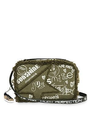 Golden Goose Deluxe Brand Raw Edge & Graffiti Canvas Star Bag