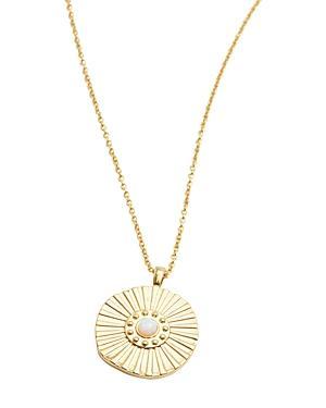 Gorjana Sunburst Coin Necklace, 19
