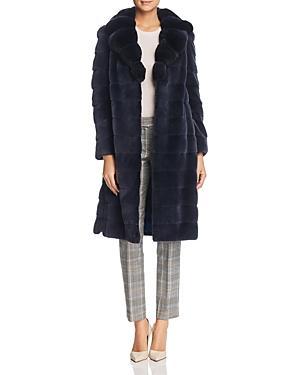 Maximilian Furs Plucked Mink Fur Coat With Chinchilla Fur Trim - 100% Exclusive