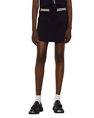Sandro Ewen Ruffled Knit Mini Skirt