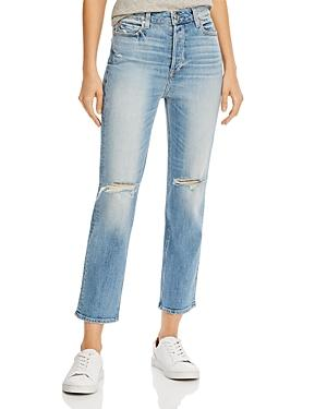 Paige Sarah Ripped Straight-leg Jeans