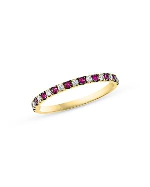 Bloomingdale's Ruby & Diamond Stacking Ring In 14k Yellow Gold - 100% Exclusive
