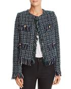 Joa Fringed Tweed Jacket