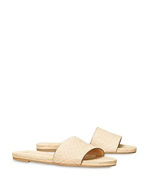 Tory Burch Women's T Monogram Espadrille Leather Slide Sandals