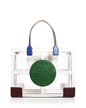 Tory Burch Ella Clear Quadrant Tote