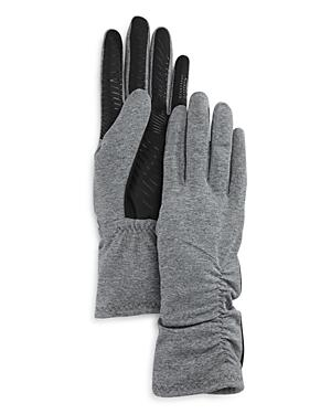 U/r Ruched Faux Fur Lined Tech Gloves