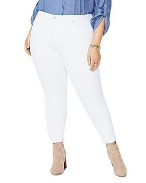 Nydj Plus Ami Ankle Skinny Jeans In Optic White