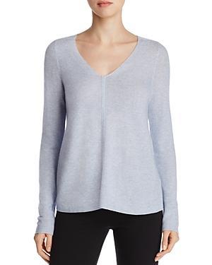 Eileen Fisher Petites Heathered V-neck Sweater