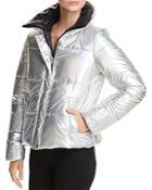 Aqua Iridescent Puffer Jacket - 100% Exclusive