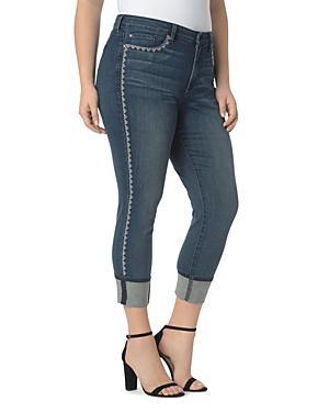 Nydj Plus Alina Wide Cuff Ankle Jeans In Oak Hill