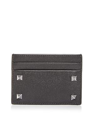 Valentino Garavani Studded Leather Card Case
