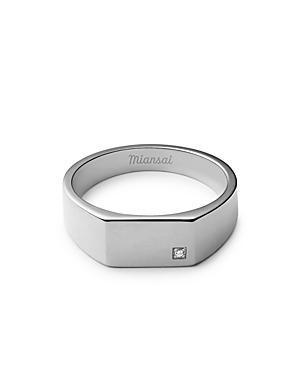 Miansai Diamond Signet Ring