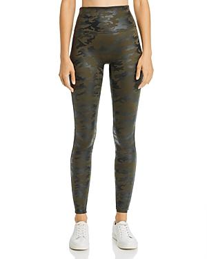 Spanx Plus Faux-leather Camo Leggings