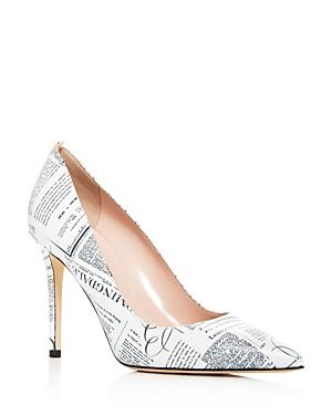 Sjp By Sarah Jessica Parker Women's Fawn Bloomingdale's Newsprint Leather Pumps - 100% Exclusive