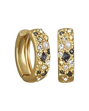 Karl Lagerfeld Paris Crystal Mini Huggie Hoop Earrings