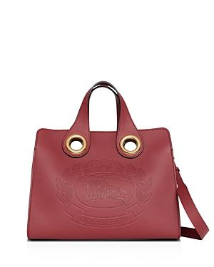 Burberry Leather Crest Grommet Detail Tote