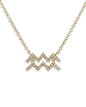 Adinas Jewels Pave Aquarius Pendant Necklace, 16-18