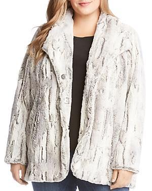 Karen Kane Plus Faux-fur Coat