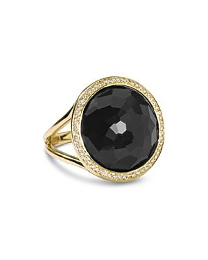 Ippolita 18k Yellow Gold Lollipop Onyx & Diamond Ring