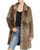 Aqua Cheetah Print Faux Fur Coat - 100% Exclusive