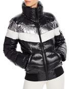 Aqua Retro-stripe Puffer Jacket - 100% Exclusive
