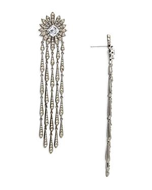 Nadri Sunburst Fringe Drop Earrings