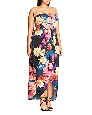 City Chic Secret Garden Maxi Dress