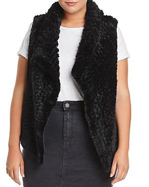 Bagatelle Plus Draped Faux-fur Vest
