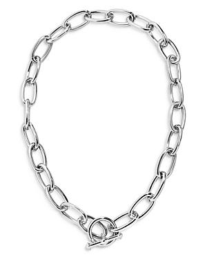 Baublebar Kahlia Oval Link Collar Necklace In Silver Tone, 18