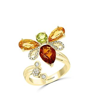 Bloomingdale's Multi-gemstone & Diamond Ring In 14k Yellow Gold - 100% Exclusive