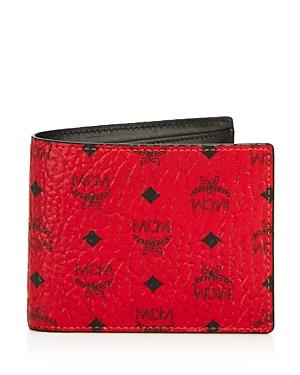 Mcm Claus Bifold Wallet With Removable Card Case
